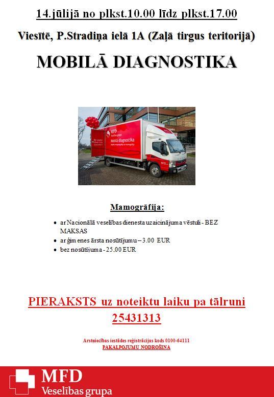 Mobilā diagnostika Viesītē