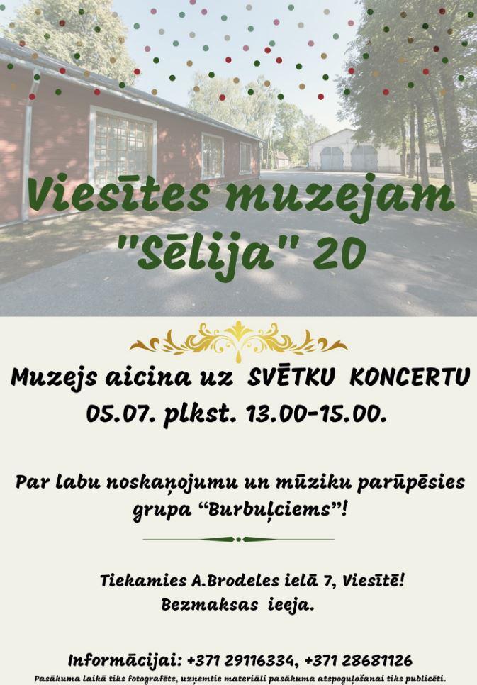 """Viesītes muzeja """"Sēlija"""" svētku koncerts"""