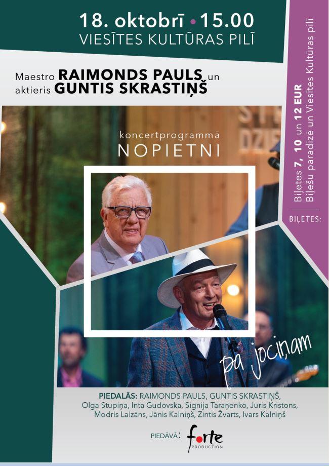 Raimonda Paula un Gunta Skrastiņa koncertprogramma Viesītē